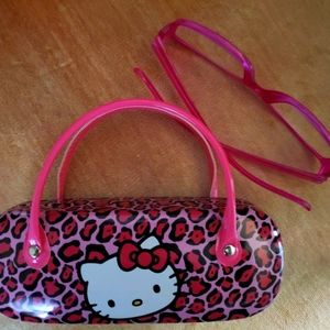 Hello Kitty! Eye Glass Case & Pink Glasses 1.0